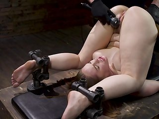 Gagged babe doubtful remainders up being ass fucked beside merciless BDSM