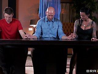 Enticing lady's man with a long manhood fucks mature slut Eva Karera