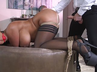Hot ass wife Raven Everlasting gets a buttplug during vaginal sexual relations