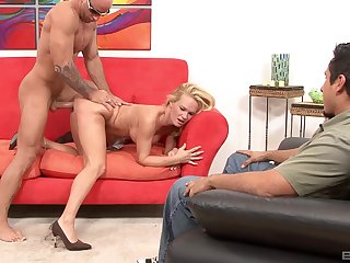Sensual Russian fucked in front be worthwhile for her hubby