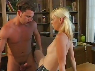 Romantic pussy and ass fucking for skinny blonde Mia Starr
