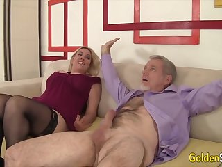 Gold Slut - Horny Aunties n Grannies Giving Special Blowjobs Compilation