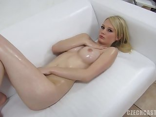 Babe, Blonde, Casting, Couple, Cum, Cute, Czech, Solo, Oil,