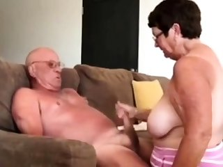 Inclusive giving husband a blow hand job
