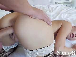 Horny nanny caught in all directions her hand in her cookie jar! :o